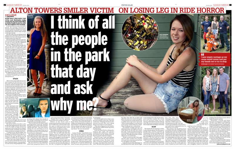 Alton Towers Accident - Sunday Mirror Article