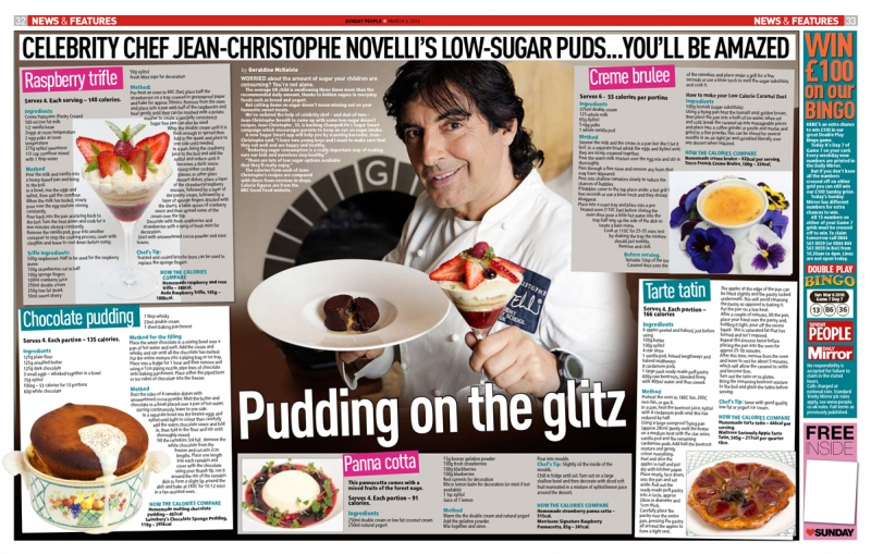 Jean-Christophe Novelli - Sunday People Article