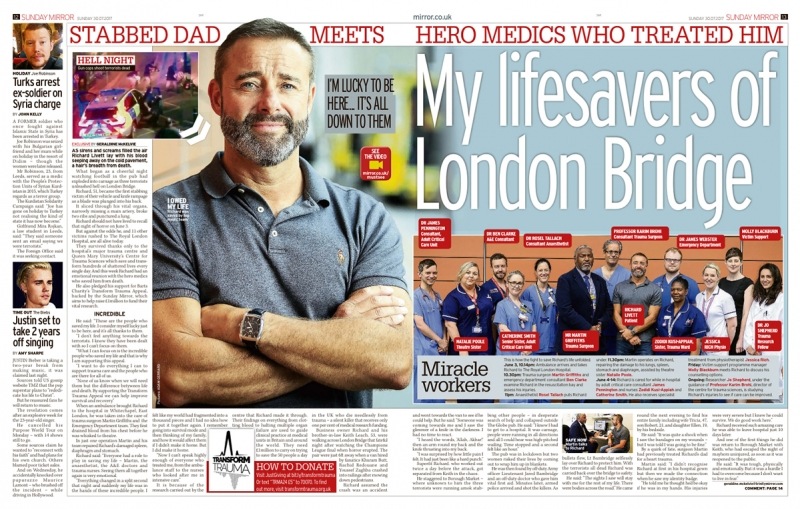 Transform Trauma - Sunday Mirror - 30 July 2017